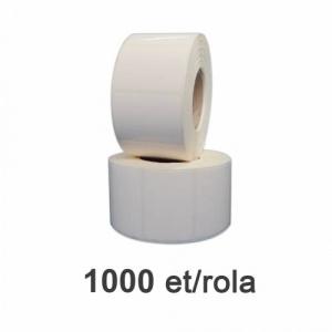 ZINTA Role etichete de plastic albe 45x32mm, 1000 et./rola - 45X32X1000-PE