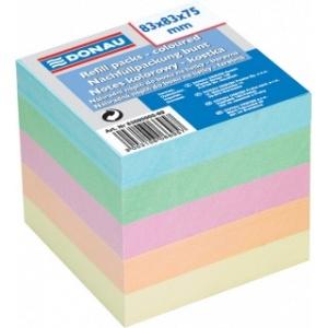 Donau Rezerva cub hartie 83x83x75mm - hartie culori pastel asortate