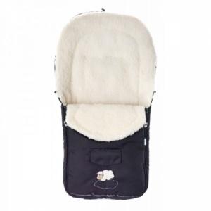 Sensillo Sac de iarna de lana black