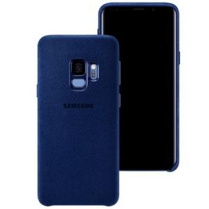 Samsung Alcantara Cover Blue pt Galaxy S9