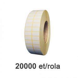 ZINTA Role etichete semilucioase 20x10mm, 20.000 et./rola - 20X10X20000-SGP-2C