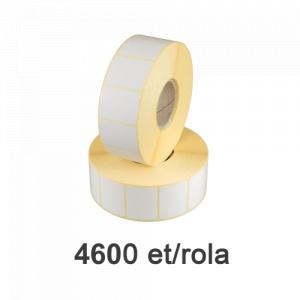 ZINTA Role etichete semilucioase 40x30mm, 4600 et./rola - 40X30X4600-SGP