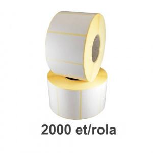 ZINTA Role etichete PE autodistructibile albe 42x21mm, 2000 et./rola - 42X21X2000-PESEC