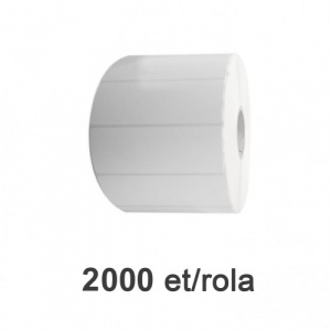 ZINTA Role etichete de plastic albe 100x30mm, 2000 et./rola - 100X30X2000-PE