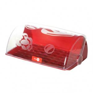 Domotti Cutie pentru paine, capac transparent, culoare rosu, colectia Avangarda 699436