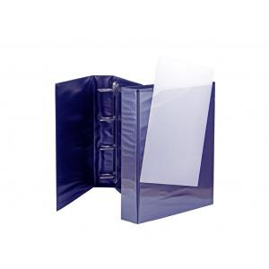 Panta Plast Caiet mecanic cu buzunar 55 mm, 4 inele, albastru