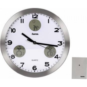 HAMA AG-300 Wall Clock, with weather station 113982