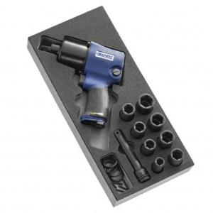 FACOM Set pistol pneumatic si tubulare prindere 1/2 10 bucati E231102