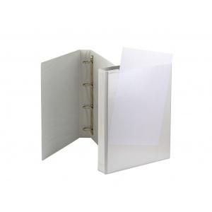 Panta Plast Caiet mecanic cu buzunar 40 mm, 4 inele, alb