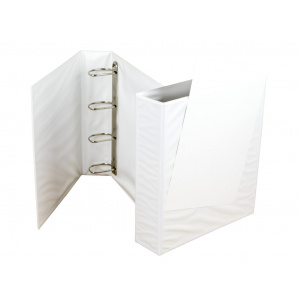 Panta Plast Caiet mecanic cu buzunar 70 mm, 4 inele, alb