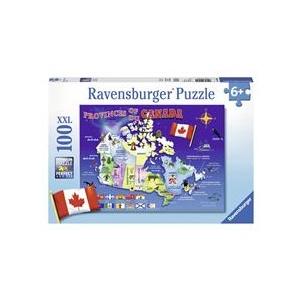 Ravensburger Harta Canadei 100 Piese