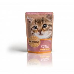 Petkult Hrana umeda pisici junioare, Curcan, 100 g