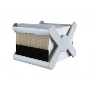 Han Suport plastic pentru 35 dosare suspendabile, X-Cross - gri deschis HA-19071-11