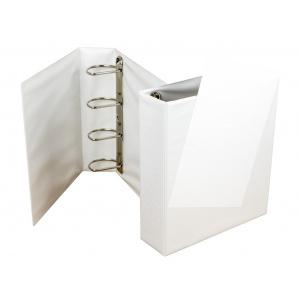 Panta Plast Caiet mecanic cu buzunar 80 mm, 4 inele, alb