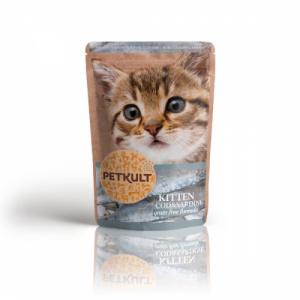 Petkult Hrana umeda pisici junioare cu cod si sardine, 100 g