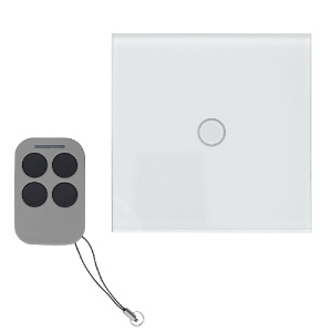 Yli Intrerupator simplu cu actionare la atingere (touch) si telecomanda RF AJ-TSB-01-wh