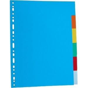 Optima Separatoare carton color 180g/mp, 12/set, OP-412 OD K