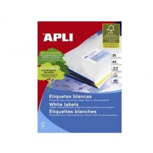 Apli Etichete Autoadezive Albe A4, 25 coli/top, colturi drepte