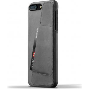 MUJJO Leather Wallet pentru Apple iPhone 8 Plus/7 Plus gri (CS-071-GY)