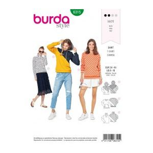 Burda Style Tipar Burda bluze femei 6315