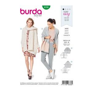Burda Style Tipar Burda cardigan femei 6336