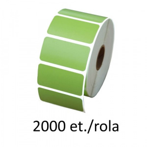 ZINTA Role etichete termice verzi, 40x21mm, 2000 et./rola - 40X21X2000-TH-GRE