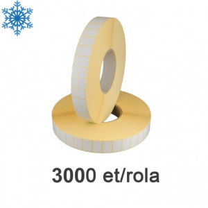ZINTA Role etichete termice 28x15mm, pentru congelate, 3000 et./rola - 28X15X3000-TH-DF