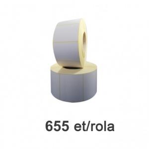 ZINTA Role etichete semilucioase 80x60mm, 655 et./rola  - 80X60X655-SGP
