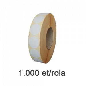 ZINTA Role etichete semilucioase rotunde 50mm, 1000 et./rola - 50X50X1000-SGP-R