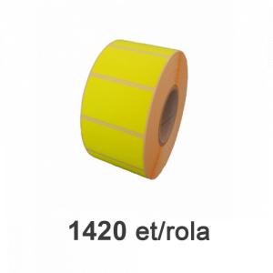ZINTA Role etichete semilucioase galbene - fluorescent 50x26mm, 1420 et./rola - 50X26X1420-SGP-YELFLUO