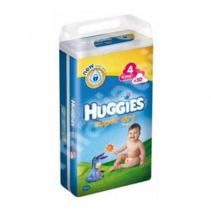 Huggies Scutece Super Dry, nr.4, 7-14 kg, 50 buc.