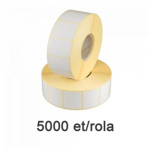 ZINTA Role etichete semilucioase 30x20mm, 5000 et./rola - 30X20X5000-SGP