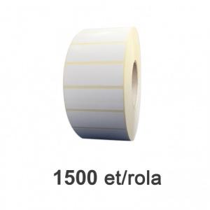 ZINTA Role etichete semilucioase 80x26mm, 1500 et./rola  - 80X26X1500-SGP