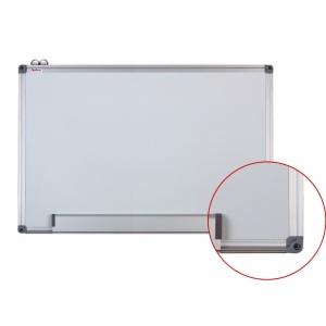Optima Tabla alba magnetica cu rama din aluminiu, 120 x 240 cm