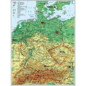 Stiefel Harta Fizico Geografica Contur Germana Germania 27450