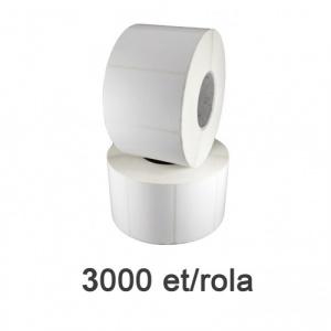 ZINTA Role etichete de plastic albe 40x15mm, 3000 et./rola - 40X15X3000-PE