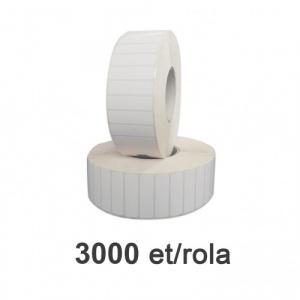 ZINTA Role etichete de plastic albe 50x15mm, 3000 et./rola - 50X15X3000-PE