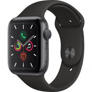 Apple Watch Series 5 GPS, 40mm, Carcasa Space Gray Aluminium, Bratara Sport Black