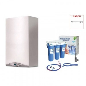 Ariston CARES PREMIUM 24 EU 24 KW + filtru de apa potabila Valrom PUR 3 UF