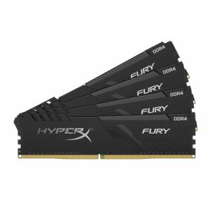 Kingston HyperX FURY  Black 32GB (4x8GB) DDR4 2666MHz CL16 HX426C16FB3K4/32