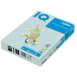 Mondi Hartie IQ Color Pastel A4 blue, 80 g/mp, 500 coli/top IQCOL480/BL29