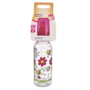 nip Biberon Family Girl PP 250 ml cu tetina latex pt lapte nr 2 35006