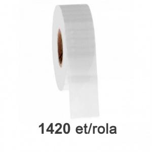 ZINTA Role etichete de plastic transparente 50x26mm, 1420 et./rola - 50X26X1420-PET
