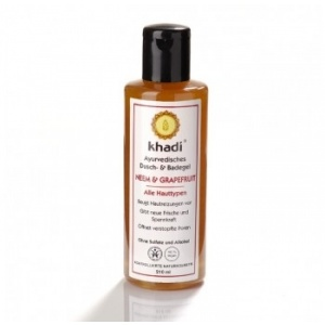 Khadi Gel de dus cu Neem si Grapefruit, 210ml