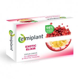 Elmiplant Săpun solid Exotic Elixir cu merișoare și fructul pasiunii, 100 g