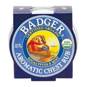 Badger Mini Balsam Aromatic pentru Desfundarea Nasului si Respiratie Regulata, 21g