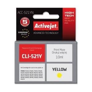 ActiveJet Cartus  ac-cli-521 Canon cli521y 10ml Galben