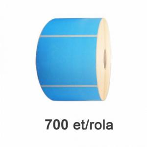 ZINTA Role etichete semilucioase albastre 100x56mm, 700 et./rola  - 100X56X700-SGP-BLUP