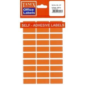TANEX Etichete autoadezive albe, 12 x 30 mm, 300 buc/set
