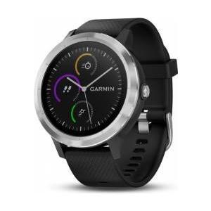 Garmin Smartwatch Vivoactive 3 GPS Argintiu Curea silicon Neagra